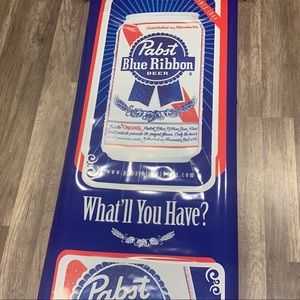 Pabst Blue Ribbon rolled poster bar sign wall art